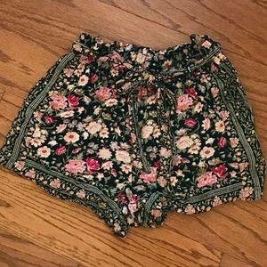 American Eagle Floral Paper Bag Shorts!